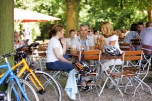 Nach der Radtour im Biergarten
